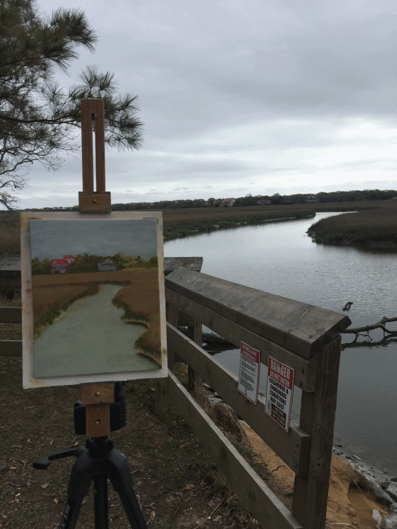 Photo of Painting in Progress on location at Edisto Beach State Park