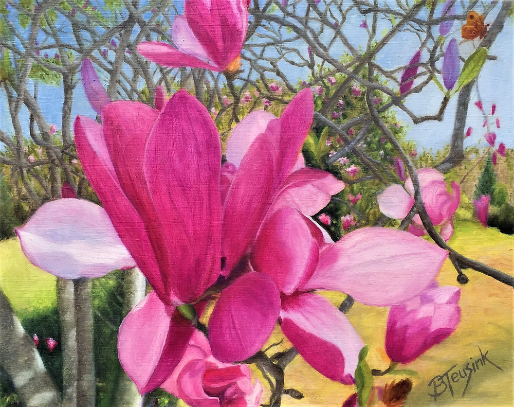 Painting: Tulip Tree Blossoms by Barbara Teusink