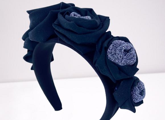 Cerchietto rose Black
