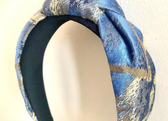 Cerchietto jacquard light blue