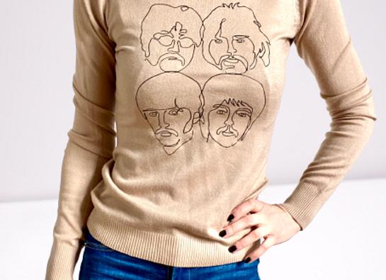 Maglione Beatles beige
