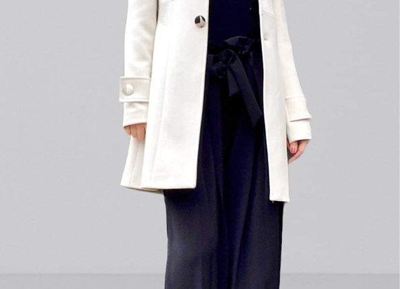 Cappotto black&white buttons