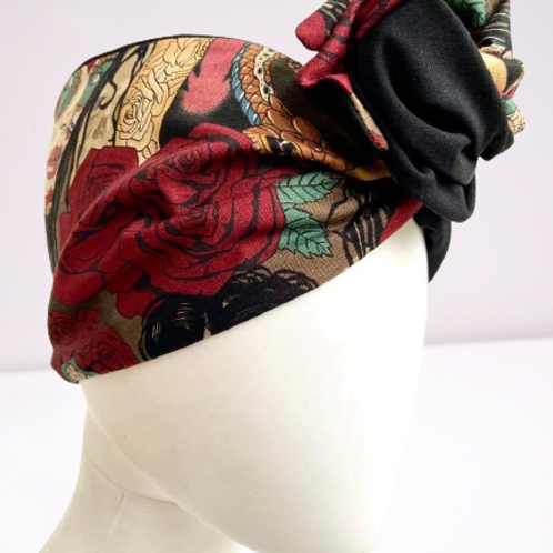 Fascia turbante skulls&roses