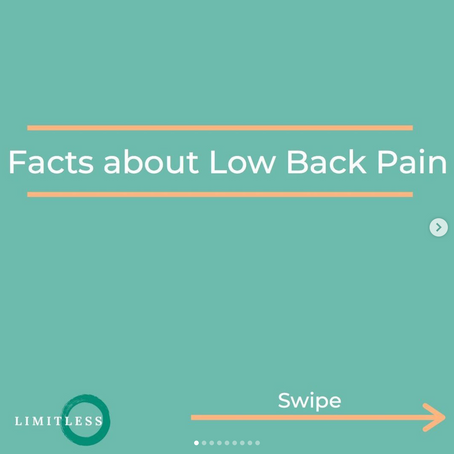 Lower Back Pain Facts From Limitless Physiotherapy & Performance New Milton
