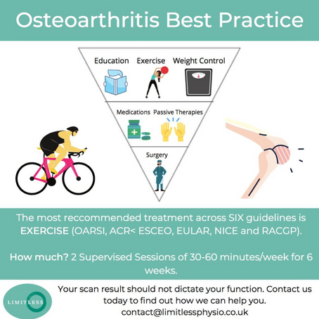 Osteoarthritis Best Practice InfoGraphic Limitless Physiotherapy & Performance New Milton