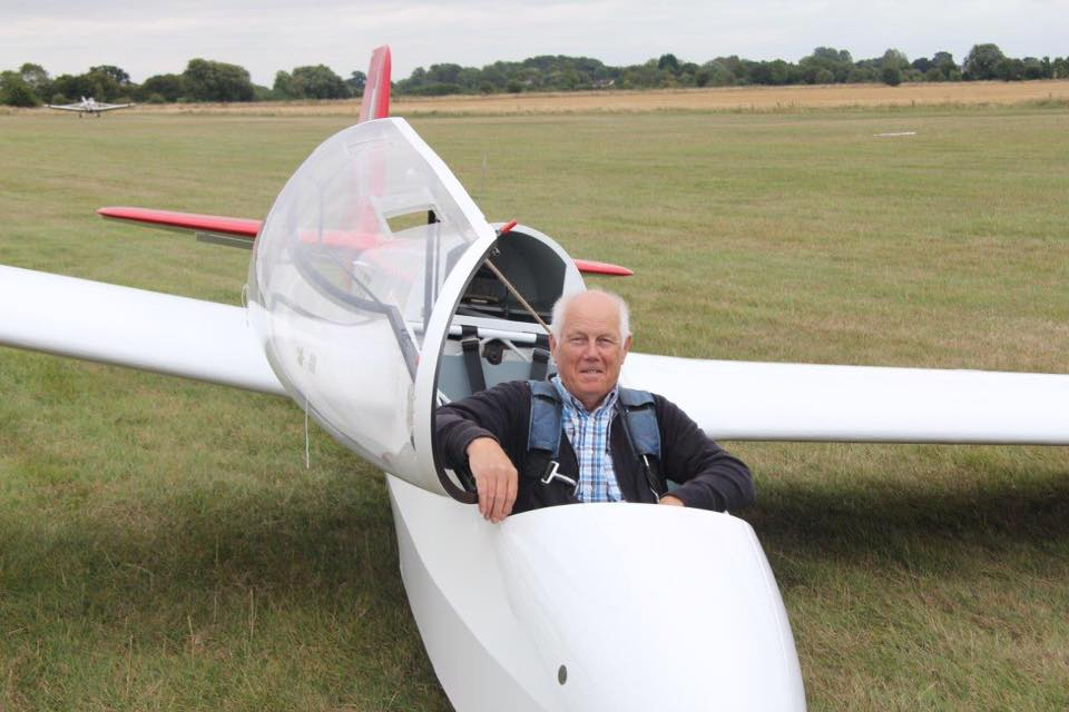 Bernard Parry soloed after a long lay off from gliding in 1966