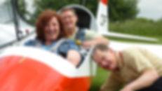Anita, Tony and Joachin. ASK 13 glider