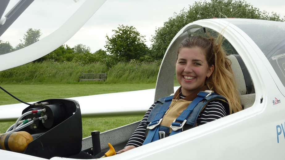 Jago ready to fly one of our PW6 gliders. Essex Gliding Club