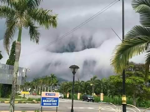 Dramatic Malaysian clouds