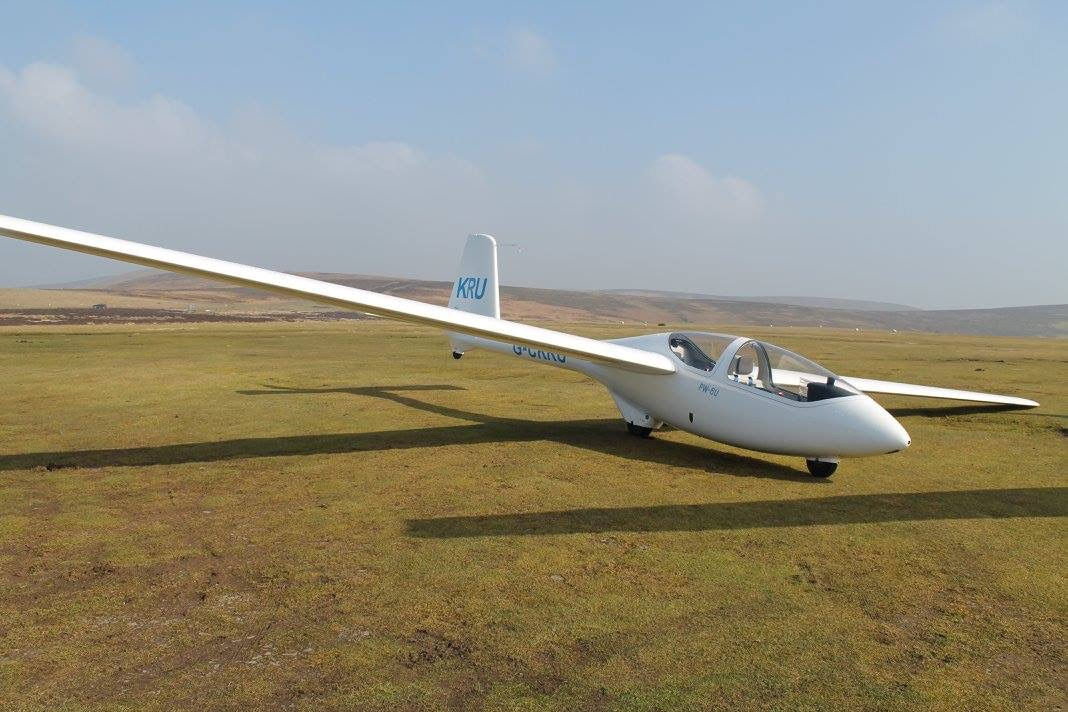 One of our PW6 training gliders