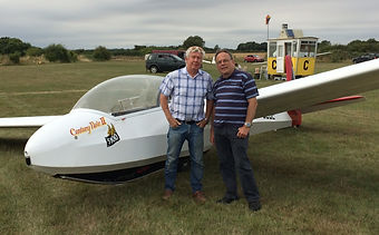 Happy Passenger! - Keith Horseman After A Trial Lesson In A Glider At Essex Gliding Club