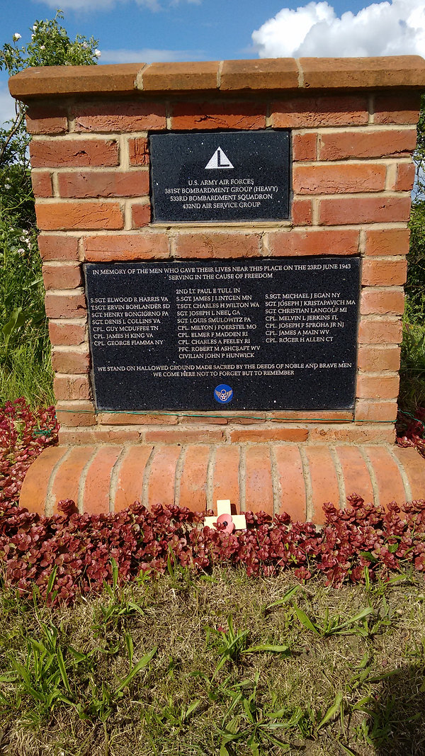 The New USAF 381st Heavy Bombardment Memorial At Ridgewell, Essex, UK