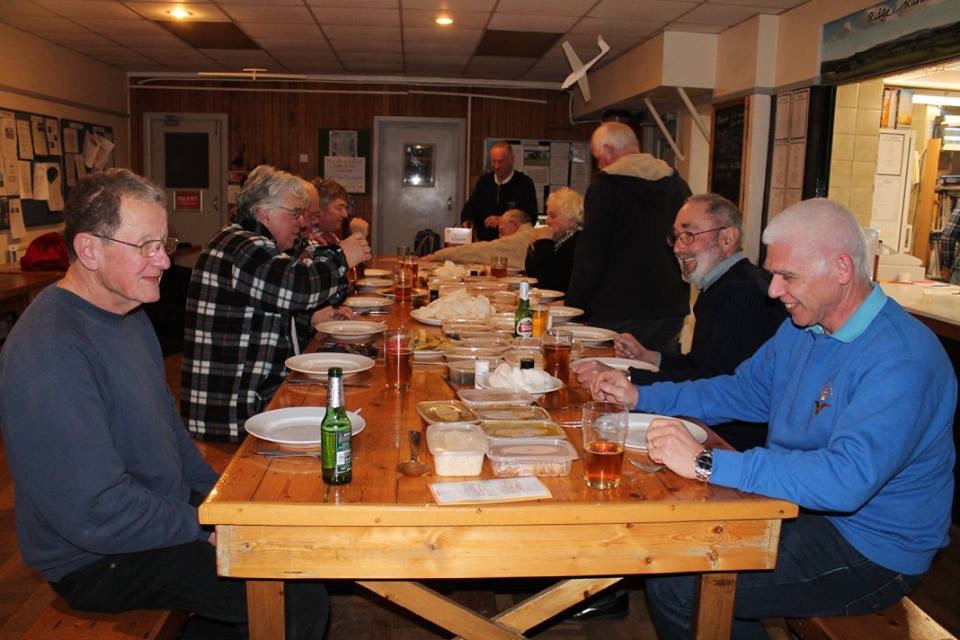 Enjoying a meal - Long Mynd 2016