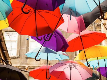 Wonderful Wednesday & flying umbrellas