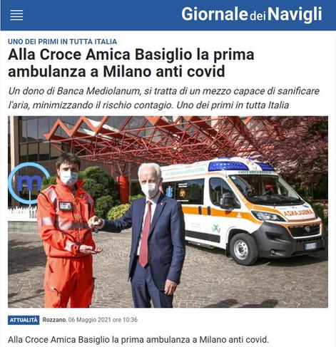 Ambulanza dono di Ennio Doris