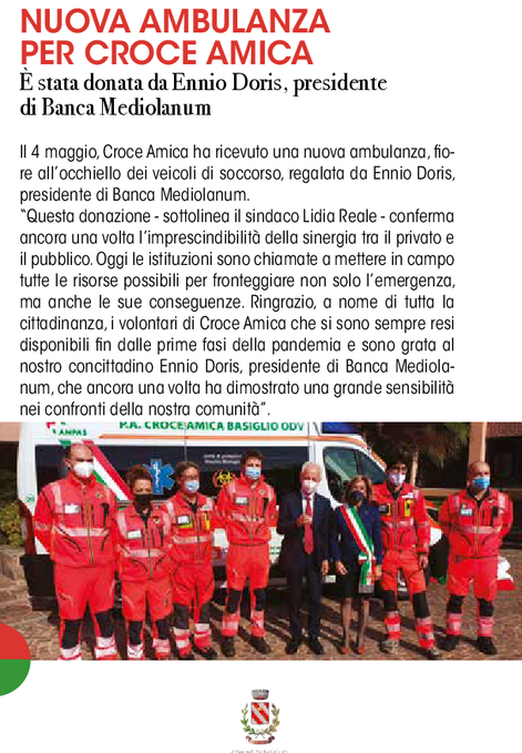 Nuova Ambulanza per Croce Amica