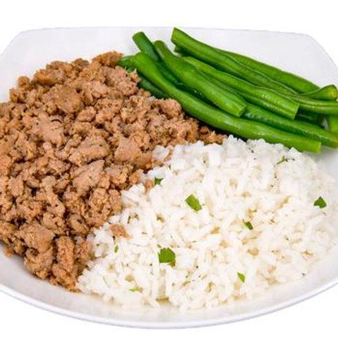 Ground Turkey, Jasmine Rice & Green Beans