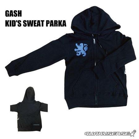 GASH KID'S SWEAT PARKA (BLACK) [Build-to-order ]