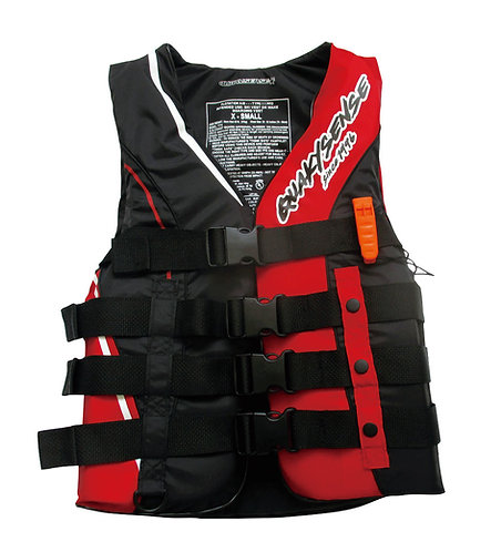 WILLOW STORY 4BUCKLE LIFE VEST(USCG/JCI)【RED】