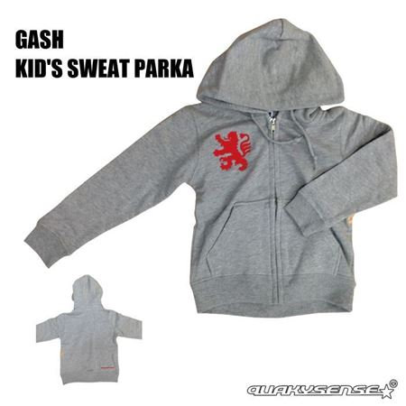 GASH KID'S SWEAT PARKA (GRAY) [Build-to-order ]