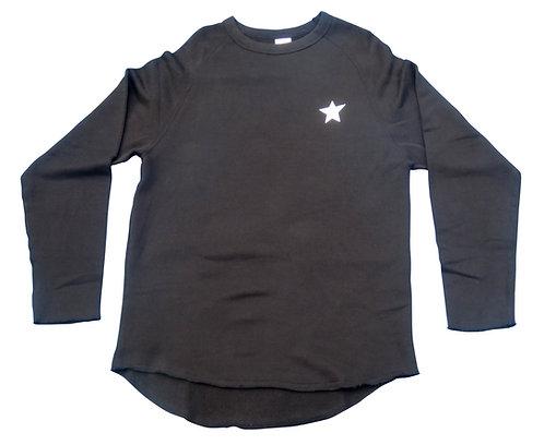 KOOTA URBAN CUT OFF SWEAT SHIRT (BLACK)