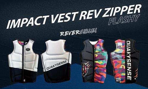 (reversible) FLASHY IMPACT VEST REV ZIPPER