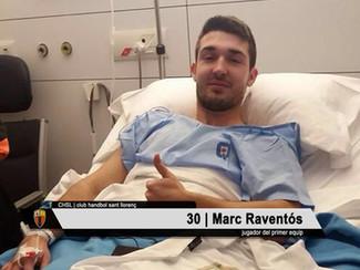 Operat amb èxit el jugador del primer equip Marc Raventós