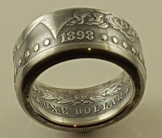 Morgan dollar ring heads out