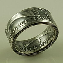 Franklin half dollar coin ring
