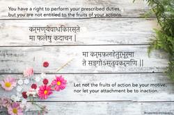 Fruits of Action English , Sanskrit