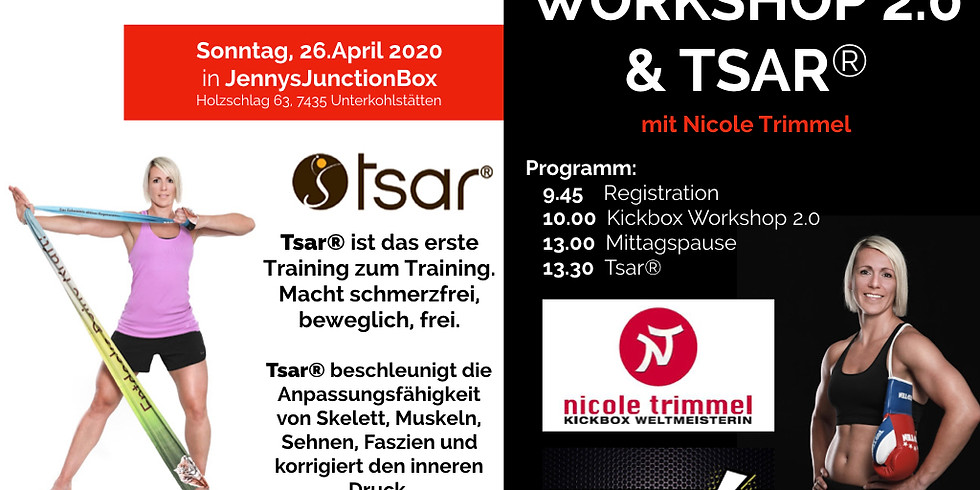 Kickbox- und Tsar® Workshop 2.0 mit Nicole Trimmel