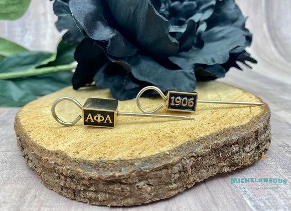 Alpha Phi Alpha cigar holder - Rectangle gold and black bead - ΑΦΑ - 1906