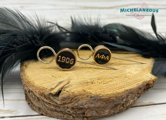 Alpha Phi Alpha cigar holder - Round gold and black bead - ΑΦΑ - 1906