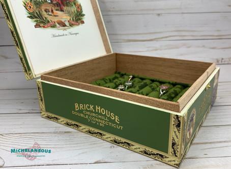 Brick House, Churchill, Double Connecticut Cigar Box now available on Etsy.
