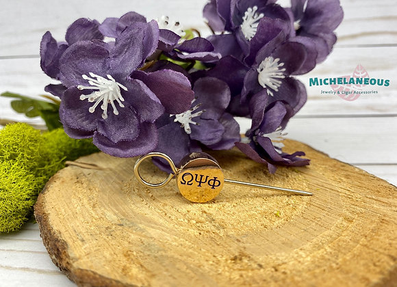 Omega Psi Phi cigar holder - Round gold and purple bead - ΩΨΦ