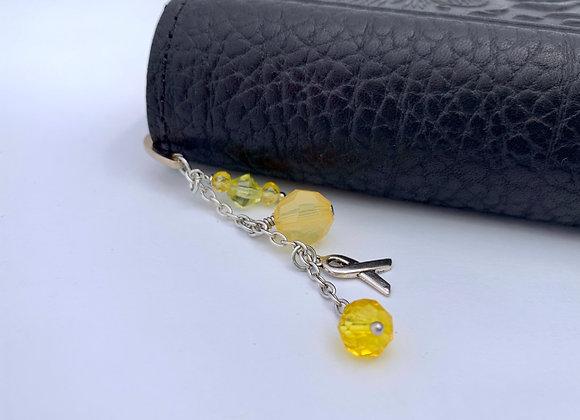 Yellow beaded bookmark