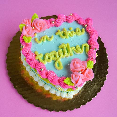 Fancy Heart Cake