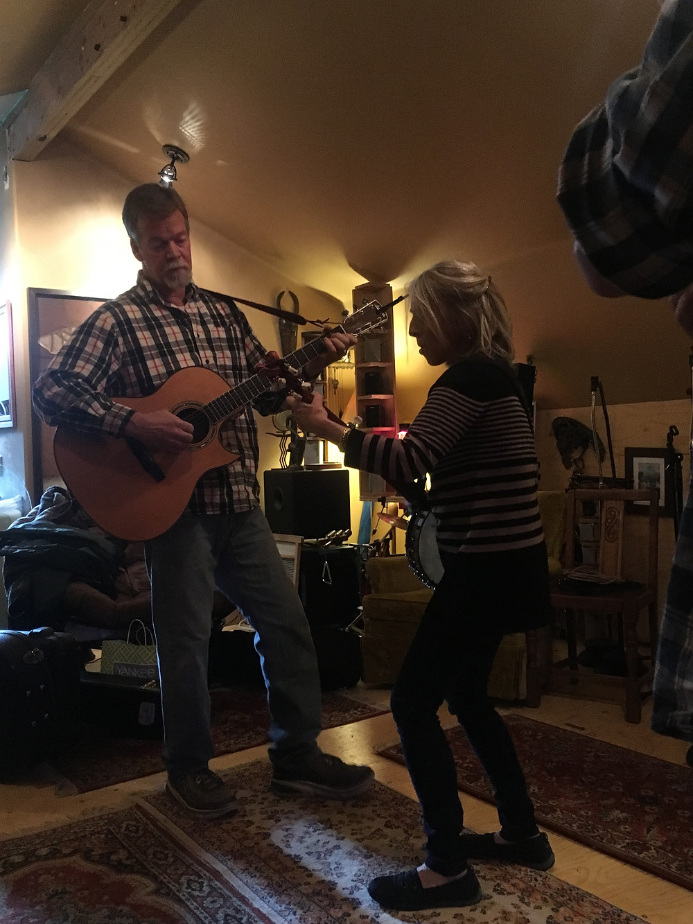 Dyann, Mark, and the 100 year old banjo