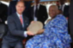 HRH Prince Edward with the Paramount Chief in Jamestown