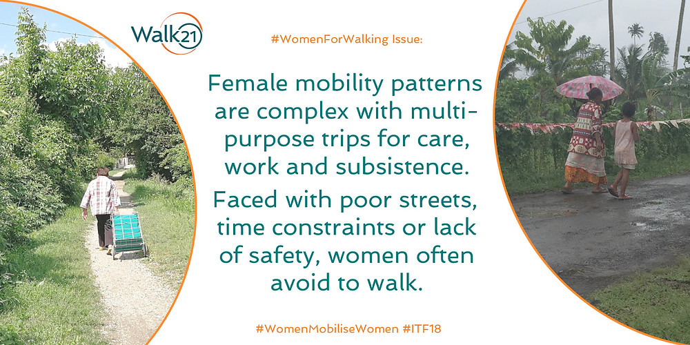 Women mobility patterns are complex