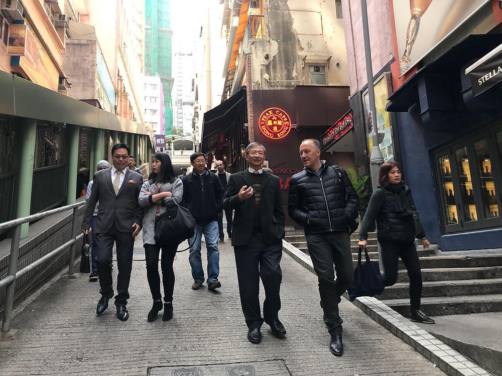 Jim Walker with Mr. LUK Fuk-man Kevin - Programme Manager, Task Force/Walkability