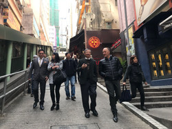 Walking in Hong Kong