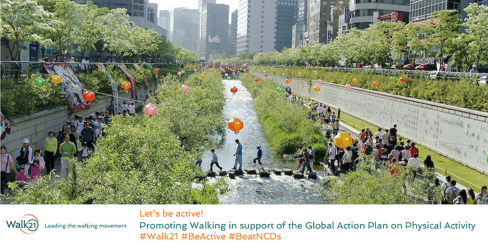 Walk21 Lets be Active image from Seoul Korea