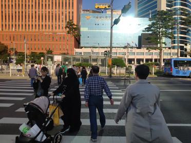 Pedestrian priority zone seoul