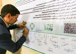 The International Charter For Walking signed in Shiraz, Iran