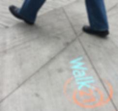 Walk21 sidewalk Calgary