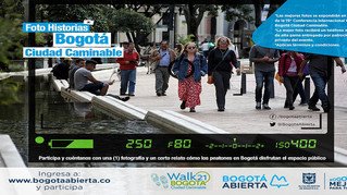 Photo Competition on Bogotá as Walkable City