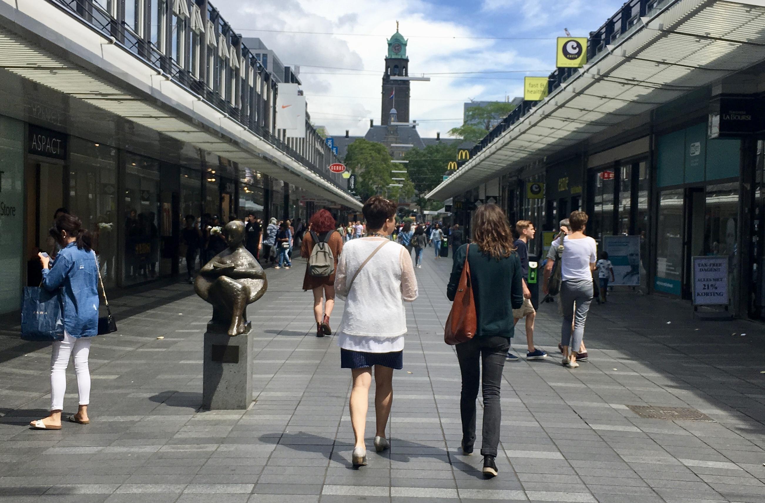 First Pedestrian plaza Rotterdam