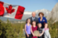 Lt Governor of Alberta Her Honor Lois Mitchell at the launch of the Canadian Commonwealth Walkway bi-lingual marker