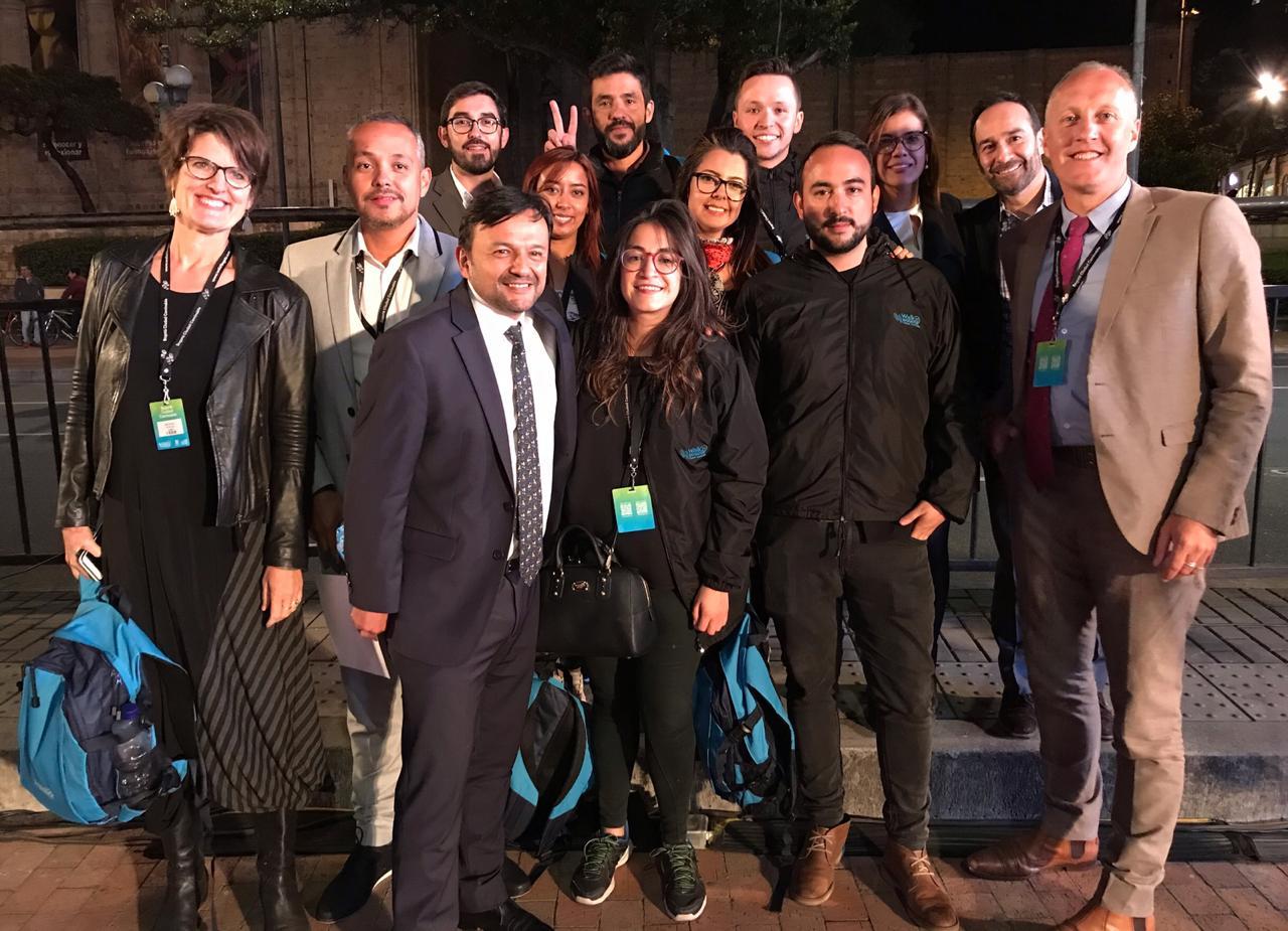 Walk21 Bogota mobility team